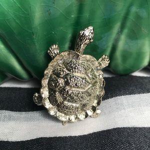 Vintage Turtle Brooch Pin Clip